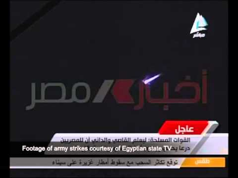 Egypt state TV runs footage of jet fighters strikes against Islamic State in Libya