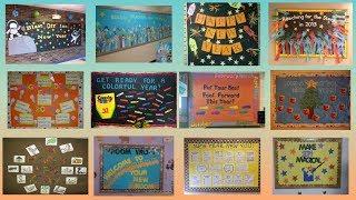 New Year school display board ideas | Notice board on New Year |