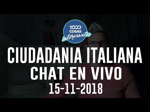 15-11-2018 Chat en Vivo con Seba Polliotto - Ciudadanía Italiana