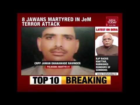 8 Jawans Martyred In Jaish-e-Mohammad Terrorists Encounter