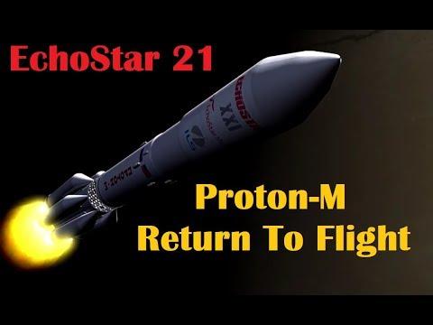 Proton-M Rocket Returns to Flight - Launches EchoStar 21 Satellite
