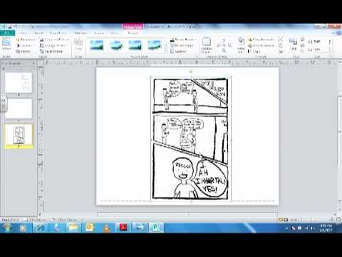 Making Visual Narratives Tutorial: Using Microsoft Publisher to Make a Mini Comic