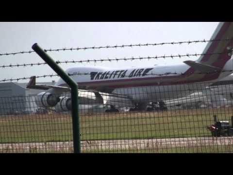 """boeing 747.riga (rix) aircraft """"kalitta air"""" take in . air cargo"""