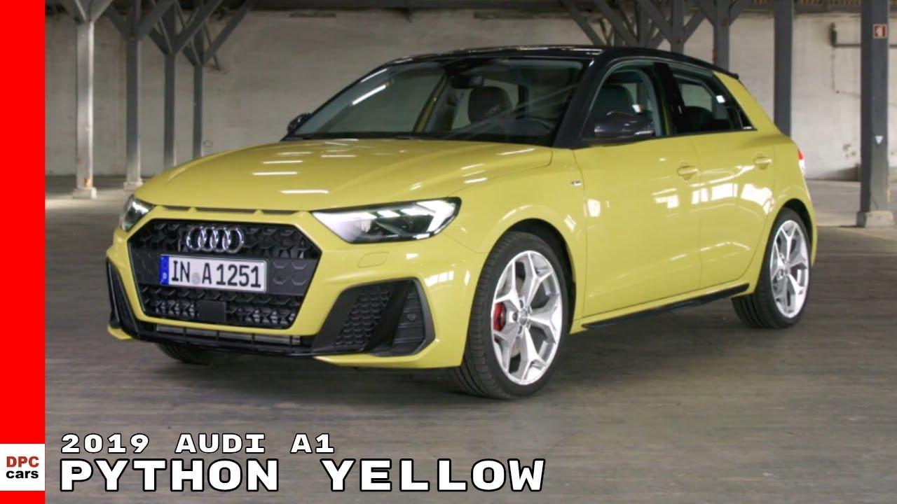 2019 Audi A1 Python Yellow