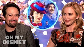 Emily Blunt and Lin-Manuel Miranda on Working Together in Mary Poppins Returns | Oh My Disney