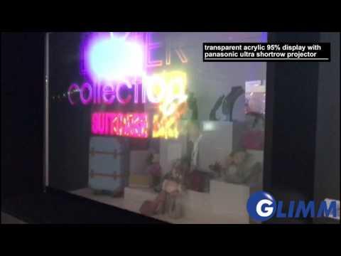 transparent public display in retail