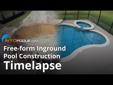Free-form Inground Pool Construction Timelapse