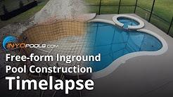 Free-form Inground Pool Construction Timelapse