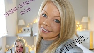 BIRTHMARK COVERAGE MAKE UP TUTORIAL//AMY ELSEGOOD//FIRST VIDEO