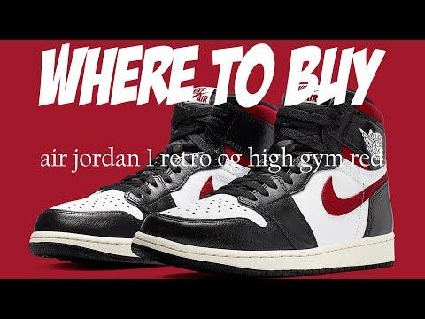 8e9b2dfa Air Jordan 1 Gym Red   How to Cop   Nike Air Jordan 1 Retro og High   Where  To Buy   Gym Red 1 - YouTube