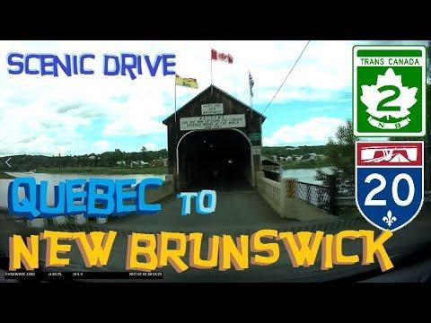 Time Lapse Drive: Québec City, Québec to Moncton, New Brunswick