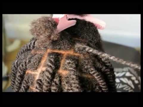 Natural Two Strand Twist For Afro Mixed Race Hair Pain Free