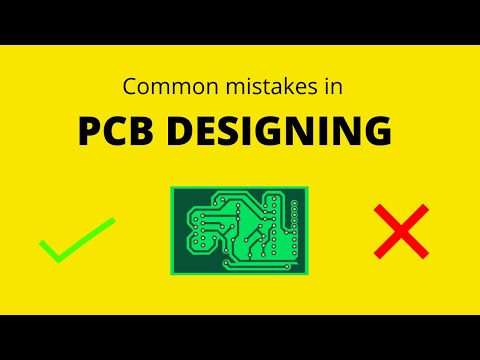 Common PCB designing mistakes to avoid