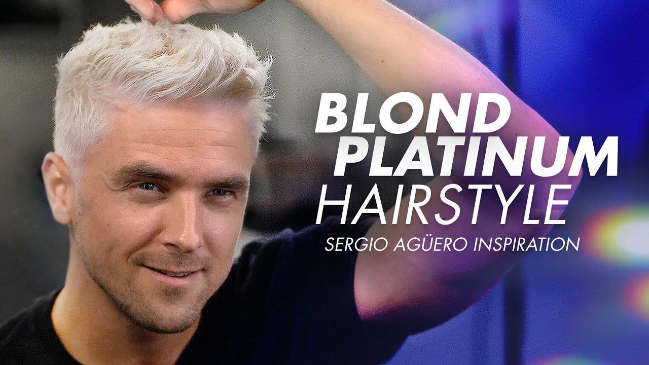 Mens Hair Dye Silver Fox Hairstyle I Sergio Aguero Haircut Inspiration Youtube