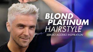 Mens Hair DYE | Silver Fox Hairstyle I Sergio Agüero Haircut Inspiration