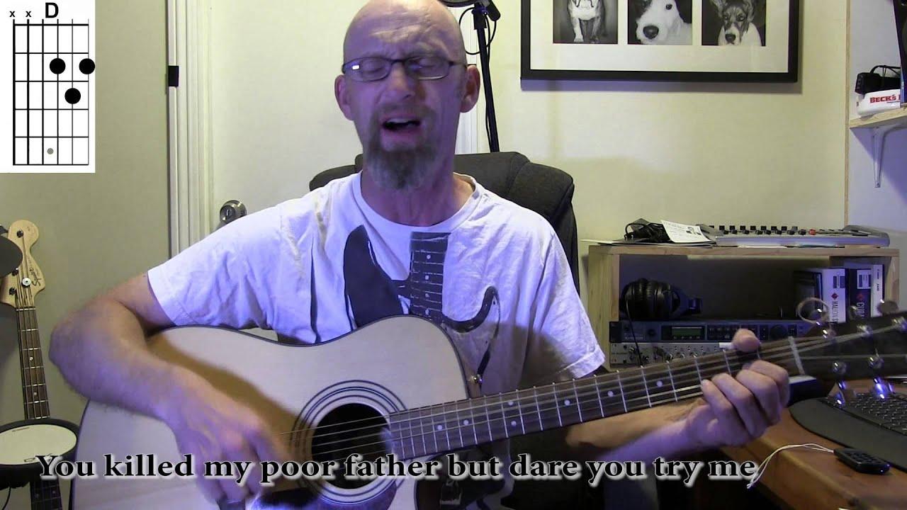Moonshiner, Traditional Irish. Guitar playalong with chords/lyrics