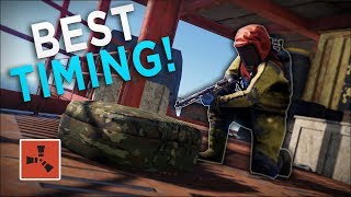 TAKING OVER the OIL RIG at the BEST TIME POSSIBLE! - Rust Solo Survival #4