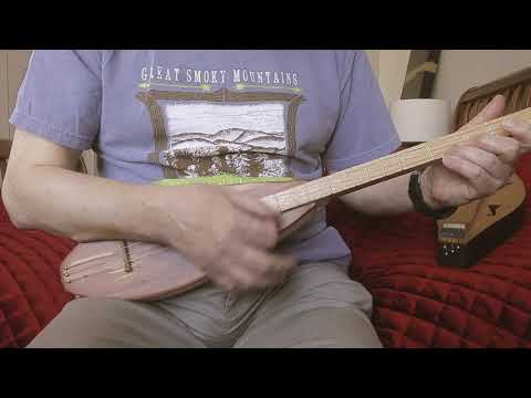 The Minstrel Boy played on a stick dulcimer