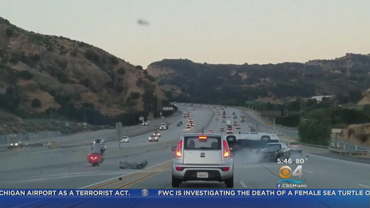 Wild Car Crash Caught On Camera - YouTube