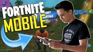 FAST MOBILE BUILDER on iOS / 385+ Wins / Fortnite Mobile + Tips & Tricks!
