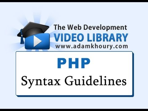PHP Tutorial - Syntax Guidelines and Rules for Beginners