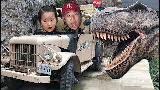 [공룡이 따라와요!] 수지의 다이노소어 파크 체험기 Giant Dinosaur Park 리틀조이