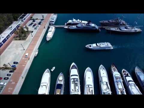 M/Y Apanemia docking Marina Agios Kosmas Athens Greece