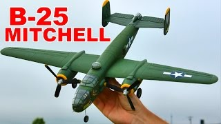 flyzone b 25 mitchell review and flight 4 channel rc plane thercsaylors