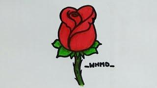 วาดรูปดอกกุหลาบ How to draw a rose 🌹