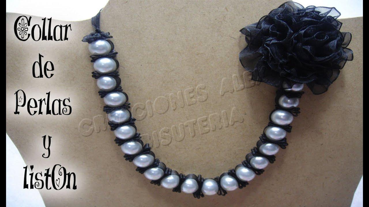 ahorrar aebab 3e28b Bisuteria collar de perlas y liston. ((#13))