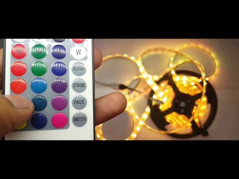5M 5050 RGB Waterproof 300 LED Strip Light Unboxing & review