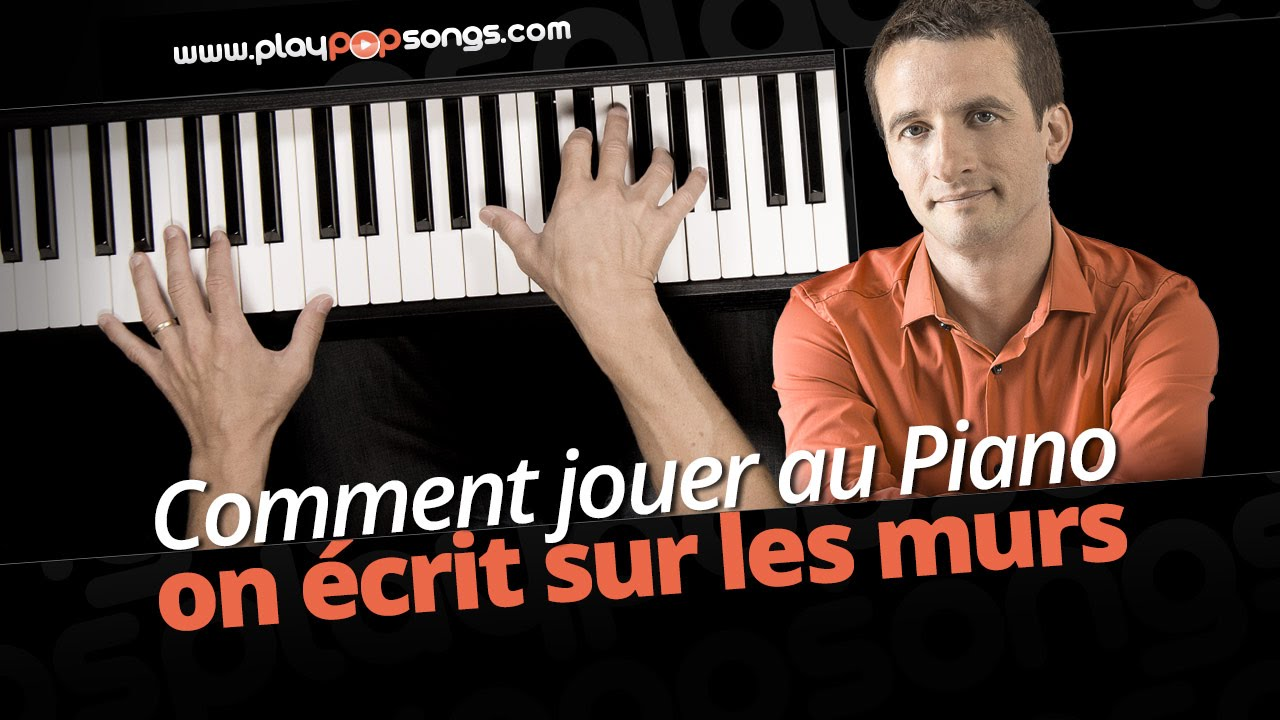 comment jouer au piano on ecrit sur les mur kids united youtube. Black Bedroom Furniture Sets. Home Design Ideas