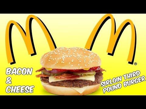 mcdonalds bacon & cheese sirloin third pound burger