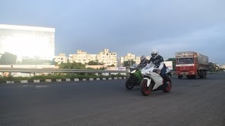 Super Bikes Street Racing In India (Close Call)