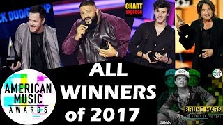 AMA's 2017 - ALL WINNERS | American Music Awards | 19th November 2017 | ChartExpress