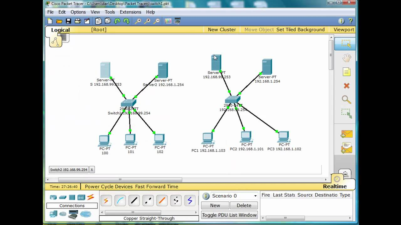 3  Basic Switch and Network Configuration, Config Backup with TFTP - CCNA