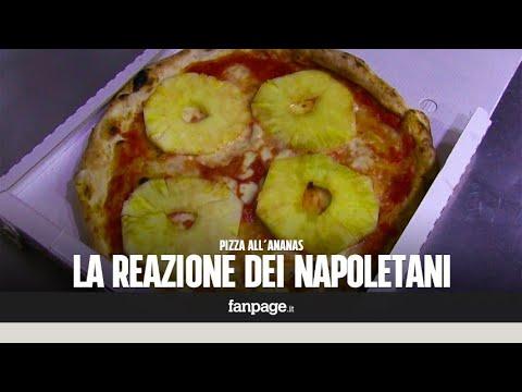 Le reazioni dei napoletani alla pizza all'ananas [CANDID CAMERA]