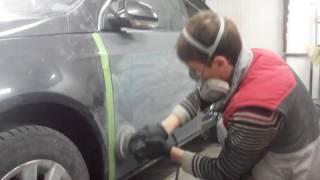 Подготовка грунта под покраску по сухому