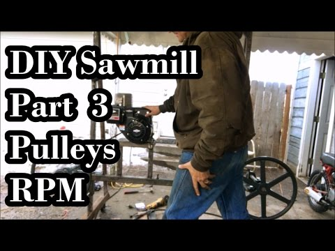 DIY Sawmill Pt 3: Pulleys, Alignment and RPM's...