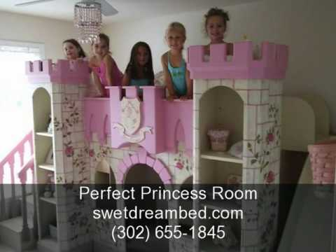 Girls Castle Bed Girls Princess Room - YouTube