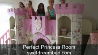 Girls Castle Bed Girls Princess Room