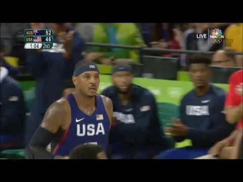 Carmelo Anthony USA vs Australia 2016 Highlights
