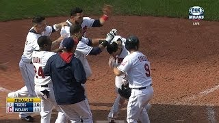 Indians walk off on balk in the 13th inning