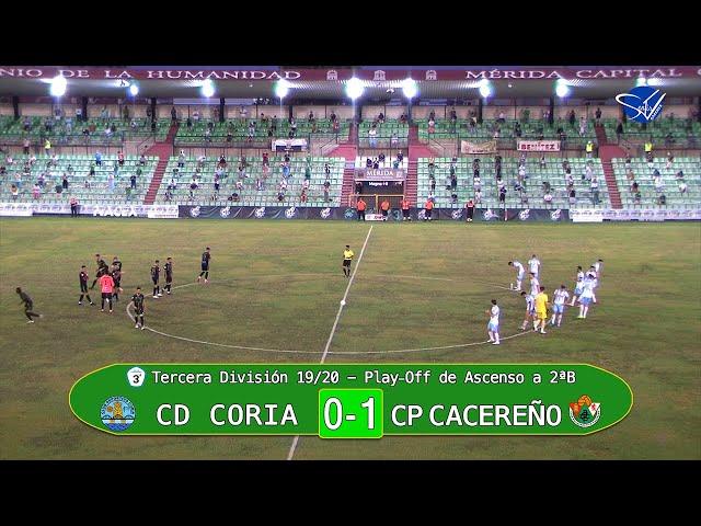 PlayOff de Ascenso a 2ªB: CD Coria - CP Cacereño (Tercera División Gr.XIV 19/20) [3 minutos]