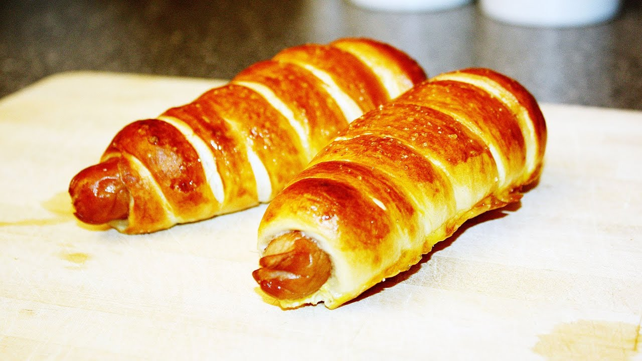 rezept pretzel dog wurst im brezelteig schnell einfach selber machen youtube. Black Bedroom Furniture Sets. Home Design Ideas