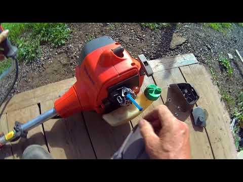 Триммер штиль порвался тросик газа ремонт видео