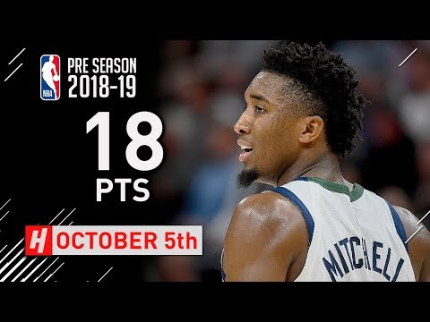 Donovan Mitchell Full Highlights vs Adelaide 36ers 2018.10.05 - 18 Points in 1st Half