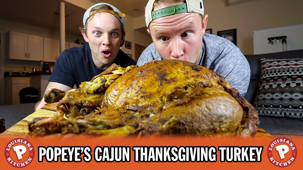 Cooking a full Popeye's Cajun-Style Turkey for Thanksgiving