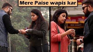 Asking Cute Girls Sau ka chutta hai | Prank with a Twist | Unglibaaz