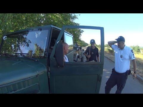 Догнали полицаи, подозревают в употреблении.